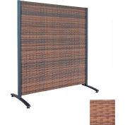 Wicker Partition Indoor/Outdoor 4' Tan