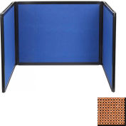Tabletop Display Partition 24x78 Fabric, Latte