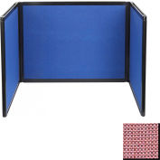 Tabletop Display Partition 24x78 Fabric, Wine