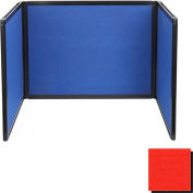 Tabletop Display Partition 24x78 Fabric, Red