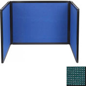 Tabletop Display Partition 24x99 Fabric, Evergreen
