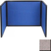 Tabletop Display Partition 24x99 Fabric, Slate