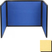 Tabletop Display Partition 36x99 Fabric, Yellow