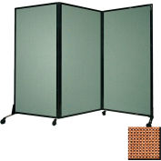 "Portable Acoustical Partition Panel, AWRD  88""x8'4"" Fabric, Latte"