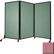 "Portable Acoustical Partition Panel, AWRD  88""x8'4"" Fabric, Wine"