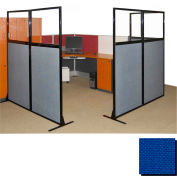 """Partition Panels with Windows - No Assembly, 70"""", 2 Partition Panel, Royal Blue"""