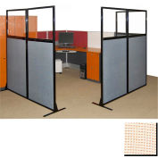 """Partition Panels with Windows - No Assembly, 70"""", 2 Partition Panel, Sand"""