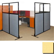 "Partition Panels with Windows - No Assembly, 70"", 2 Partition Panel, Yellow"