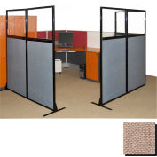 """Partition Panels with Windows - No Assembly, 70"""", 3 Partition Panel, Rye"""