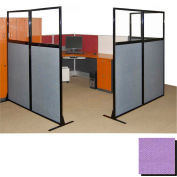 """Partition Panels with Windows - No Assembly, 70"""", 3 Partition Panel, Purple"""