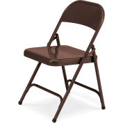 Virco 162 Steel Folding Chair, Brown Finish Package Count 4