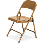Virco 162 Steel Folding Chair, Gold Finish Package Count 4