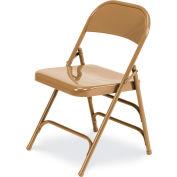 Virco® 167 Steel Folding Chair, Gold W/ Double Leg Brace - Pkg Qty 4
