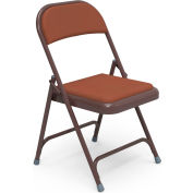 Virco 168 Steel Folding Chair, Brown Frame With Brown Vinyl Upholstery Package Count 4