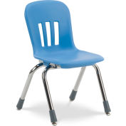 "Virco® N912 The Metaphor® Stacking Chair 12"", Blue With Chrome - Pkg Qty 5"
