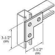 "Versabar 3 Hole Flat L Plate, 3-1/2"" X 3-1/2"" - Pkg Qty 50"