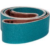 "VSM Abrasive Belt, 127057, Zirconia Alumina, 3"" X 21"", 80 Grit - Pkg Qty 10"
