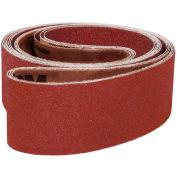 "VSM Abrasive Belt, 95456, Aluminum Oxide, 1 1/2"" X 24"", 100 Grit - Pkg Qty 10"