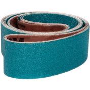 "VSM Abrasive Belt, 99780, Zirconia Alumina, 2 1/2"" X 48"", 50 Grit - Pkg Qty 10"