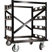"Visiontron Horizontal Post 42"" Storage Cart, 12 Post Capacity"