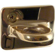 """Conventional Post Stanchion, 2""""H Wall Plates, Polished Brass"""