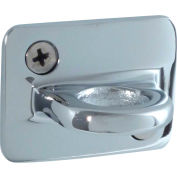 """Conventional Post Stanchion, 2""""H Wall Plates, Polished Chrome"""
