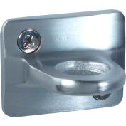 """Conventional Post Stanchion, 2""""H Wall Plates, Satin Chrome"""
