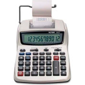 "Victor® 12-Digit Calculator, 12082, 2 Color Printing, 6"" X 8-1/4"" X 1-1/2"", White"