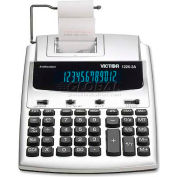 "Victor® 12-Digit Calculator, 12253A, W/Antimicrobial, 2 Color, 7-1/2"" X 9-1/2"" X 2"", White"