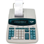 "Victor® 12-Digit Calculator, 12603, 2 Color Printing, 8"" X 11"" X 3"", White"