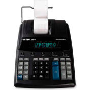 "Victor® 12-Digit Printing Calculator, 14604, 2 Color Printing, 8"" X 12-1/4"" X 3-1/4"", Black"