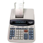 "Victor® 12-Digit Desktop Calculator, 26402, 2 Color Printing, 8"" X 11-1/4"" X 3"", White"