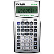 "Victor® 10-Digit Scientific Calculator, V30RA, Battery Powered, 3-1/4"" X 6-1/4"" X 1/2"", Black"