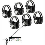 HamiltonBuhl Wireless Listening Center, 6 Station w/ Headphones & Bluetooth® Transmitter