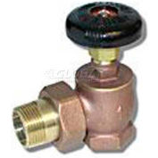 "Wal-Rich® 0408002 1"" Brass Angle Steam Radiator Valves - Pkg Qty 4"