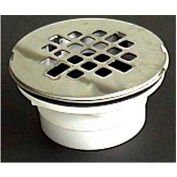 """Wal-Rich® 0523030 2"""" PVC Shower Drain, Jiffy Joint Connection - Pkg Qty 15"""