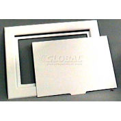 "Wal-Rich® 2213002 6"" x 9"" Snap-In Plastic Access Panel - Pkg Qty 12"