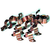 "Wal-Rich® 2422010 1-1/2"" Copper-Clad Two-Hole Pipe Straps - Pkg Qty 250"