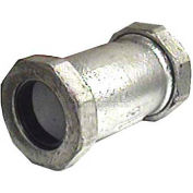"Wal-Rich® 2560016 3"" Short Galvanized Malleable Iron Compression Coupling - Pkg Qty 2"