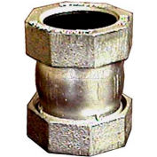 """1/2"""" Dresser™ Style 65 Short Galvanized Compression Fittings For Steel - Pkg Qty 4"""
