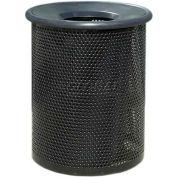 "Metal Waste Container W/Black Aluminum Funnel Lid, 22"" Dia. X 28"" Black"