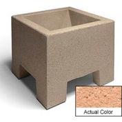 Wausau SL400 Square Outdoor Planter - Weatherstone Cream 18x18x15