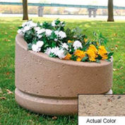 Wausau SL4011 Round Outdoor Planter - Weatherstone Gray 24x18