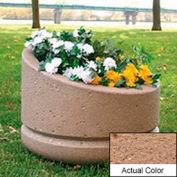 Wausau SL4011 Round Outdoor Planter - Weatherstone Sand 24x18