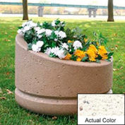 Wausau SL4011 Round Outdoor Planter - Weatherstone White 24x18