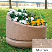 Wausau SL4011 Round Outdoor Planter - Weatherstone Buff 24x18