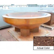 Wausau SL4036 Round Outdoor Planter - Weatherstone Brown 96x38
