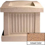 Wausau SL404 Square Outdoor Planter - Weatherstone Sand 28x28x24