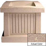 Wausau SL404 Square Outdoor Planter - Weatherstone Buff 28x28x24