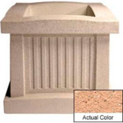 Wausau SL404 Square Outdoor Planter - Weatherstone Cream 28x28x24